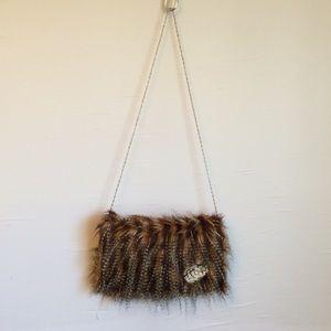 Vintage Faux Fur Purse\Clutch Chain Strap